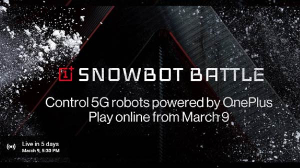 OnePlus Launches Snowbot Battle With Real Robots