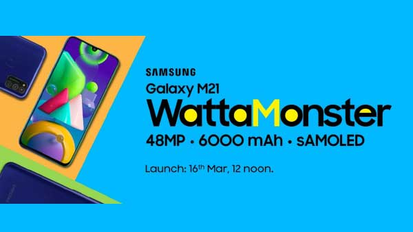 Samsung Galaxy M21 Listed On Amazon: Design, Specs Confirmed