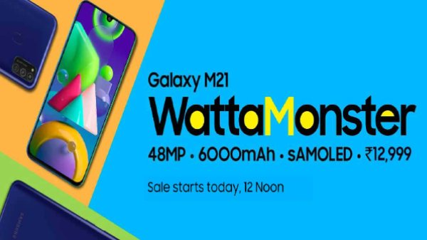 Samsung Galaxy M21 First Sale Today In India Via Amazon