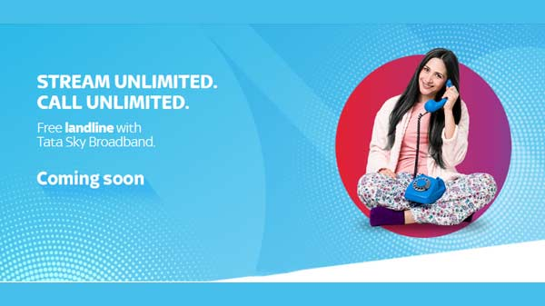 Tata Sky Broadband Teases Upcoming Free Unlimited Landline Services