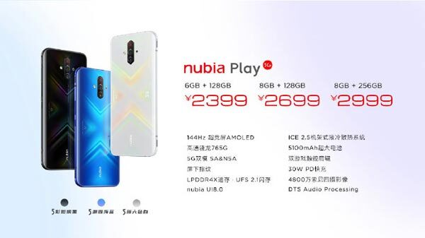 Nubia Play With Snapdragon 765G, Quad-Rear Cameras launched