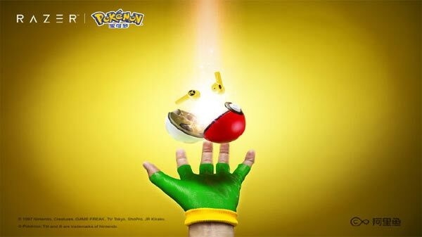 Razer Pokémon Pikachu Wireless Earbuds With Pokeball-Shaped Charger