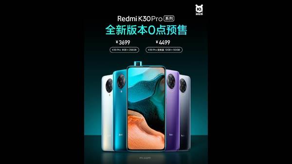 Redmi K30 Pro Zoom Edition With 12GB RAM + 512GB Storage Goes Live