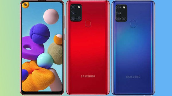 Samsung Galaxy A21s Goes Official With Quad Rear Cameras