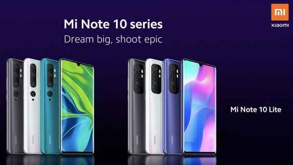 Xiaomi Mi Note 10 Lite With 64MP Quad-Cameras Officially Announced