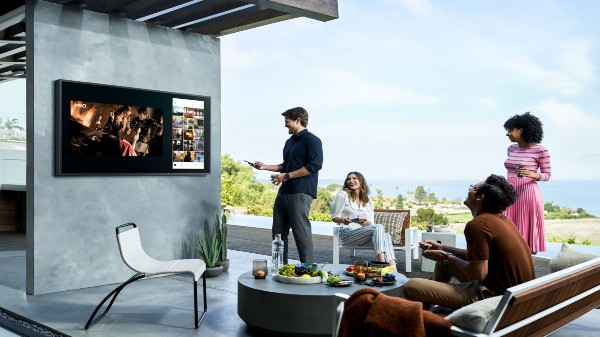 Samsung Terrace 4K QLED TV, Soundbar Takes Entertainment Experience Outdoors