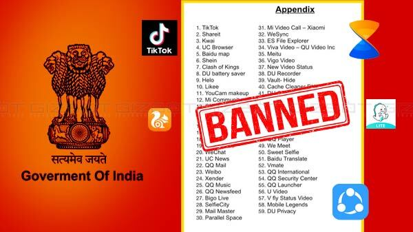 Indian Government Bans 59 Chinese Apps Over Privacy Concerns