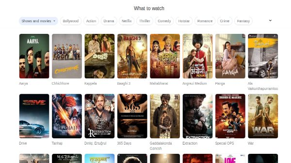 Watch To Watch: Google Search Helps To Easily Find TV Shows, Movies