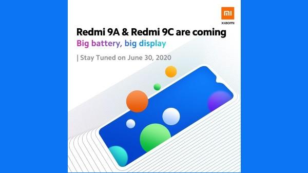 Xiaomi Redmi 9A, Redmi 9C Launching On June 30