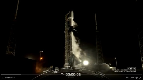 Falcon 9 rocket launches eighth batch of 60 Starlink satellites