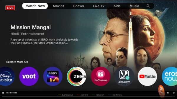 Jio TV+ Announced With Single Click Sign-In Option For 12 OTT Apps
