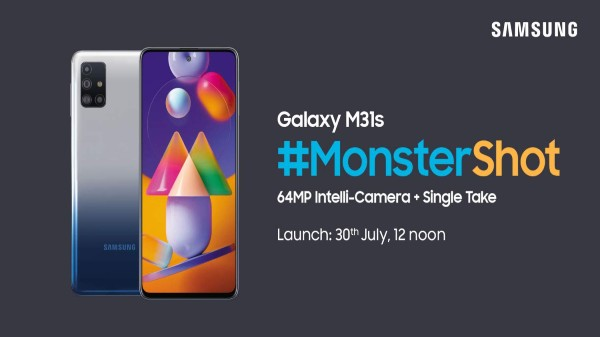 Samsung Galaxy M31s will be launched in India on July 30
