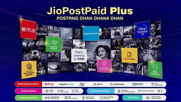 Reliance Jio Launches Five Postpaid Plus Plans