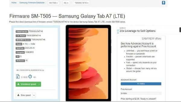 Samsung Galaxy Tab A7 2020 India Launch Tipped