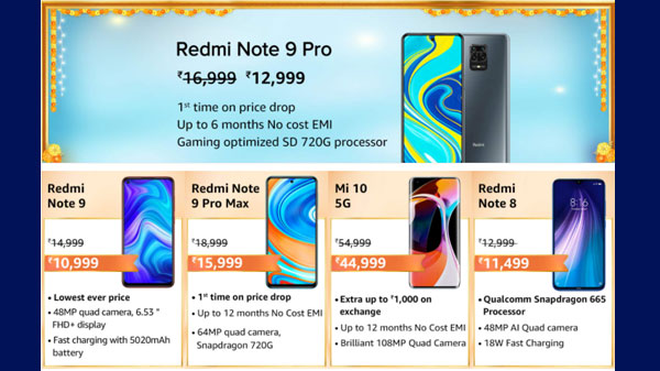 Redmi Mobiles Special Offers And Discounts During Amazon Great Indian Festival Sale 2020 Gizbot News