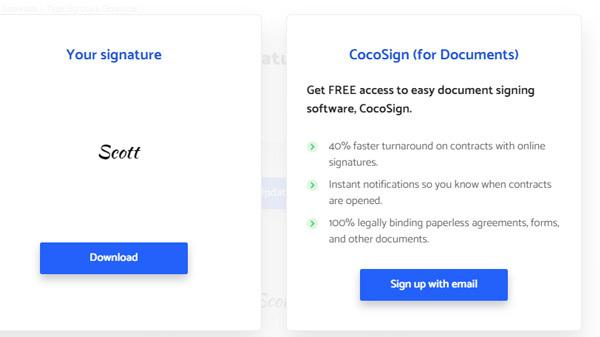 Create Digital Signature with Signature Generator