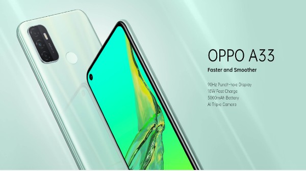 Oppo A33 With 90Hz Display, Triple-Camera Setup Launched In India