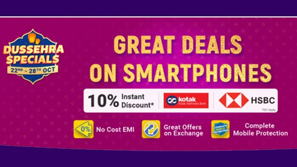 Flipkart Dussehra Special Sale: Heavy Discounts On Budget Smartphones Under Rs. 10,000