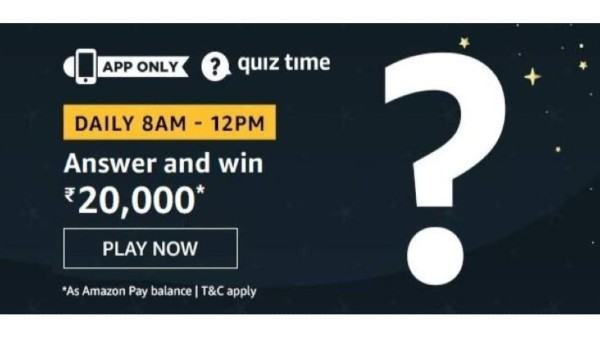 Amazon Quiz Answers For November 27: Play And Win Rs. 20,000 Amazon Pay Balance