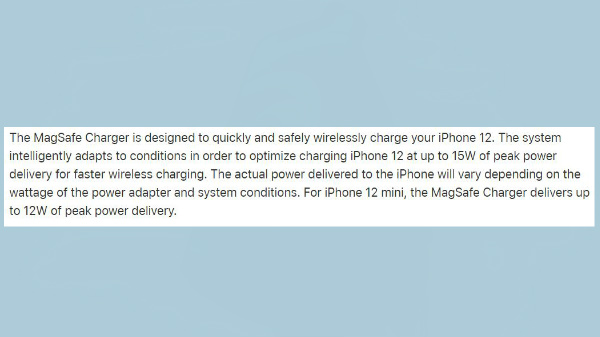Slow MagSafe Wireless Charging For iPhone 12 Mini; Here's Why