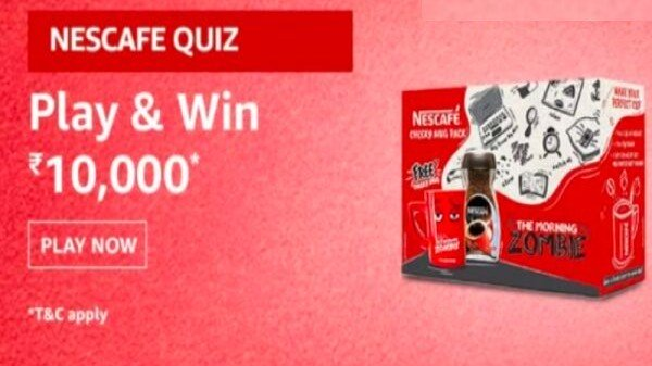 Amazon Nescafe Quiz: How To Play And Win Rs. 10,000 Prize