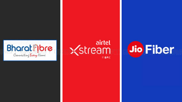 Airtel Xstream Vs BSNL Bharat Fibre Vs JioFiber