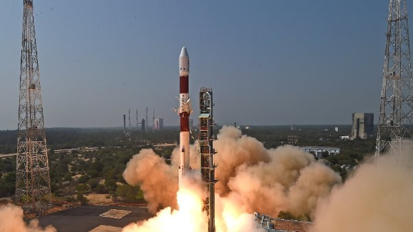 ISRO Launches Observation Satellites With PM Modi's Photo