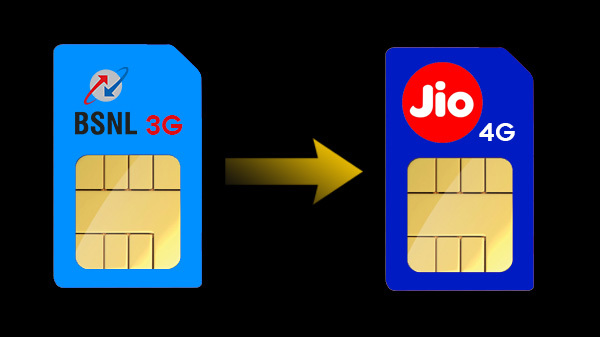How To Port Your BSNL 3G SIM To Reliance Jio 4G Network