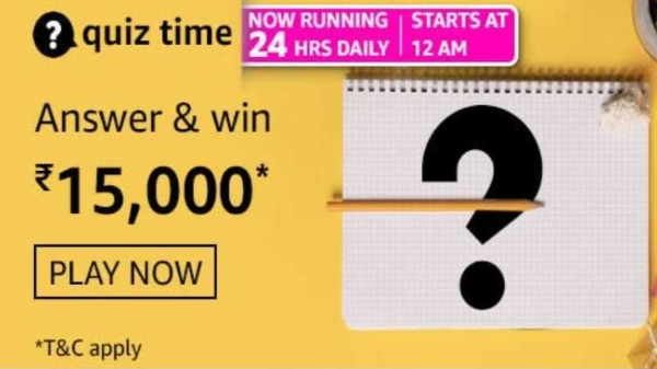 Amazon Quiz Contest Answers For March 3, 2021: Win Rs. 15,000 Amazon Pay Balance