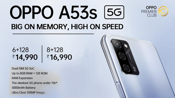 OPPO Unleashes a New Era of Budget 5G Smartphone with it's A53s 5G, the most affordable 5G phone with 6GB RAM