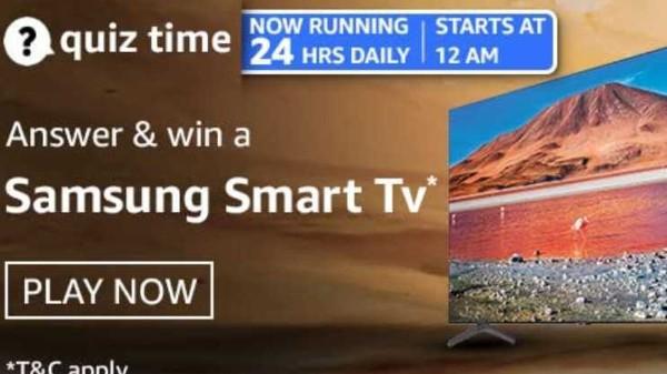 Amazon Quiz Contest Answers For April 2, 2021: Win Samsung Smart TV