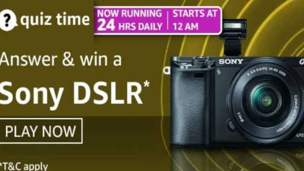 Amazon Quiz Contest Answers For April 22, 2021: Win Sony DSLR