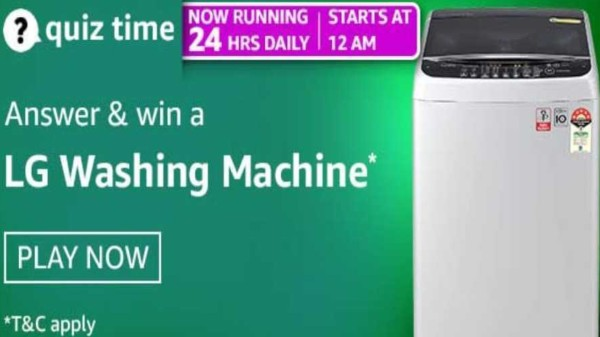 Amazon Quiz Contest Answers For April 29, 2021: Win LG Washing Machine