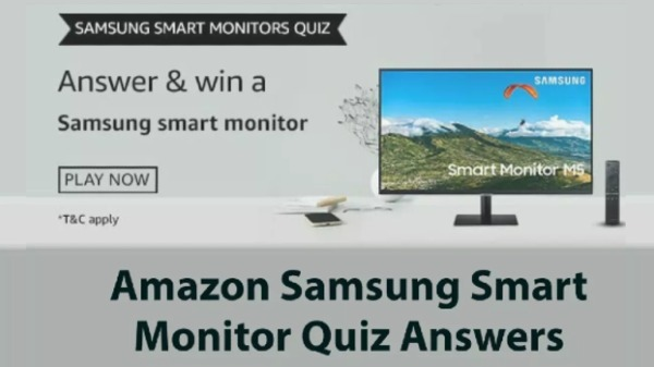 Amazon Samsung Smart Monitors Quiz Answer