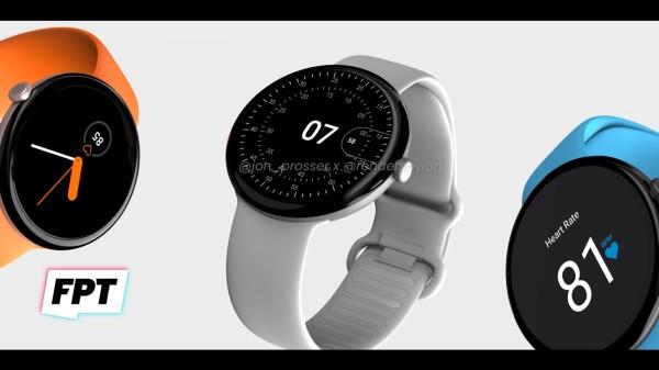 Google Pixel Watch Renders Reveal Circular Design With Crown