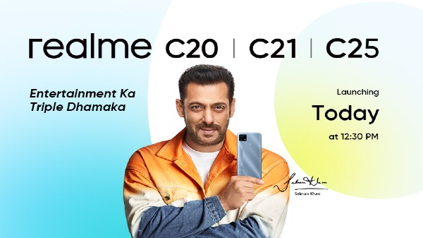 Realme C25, Realme C20, Realme C21 Launching Today In India
