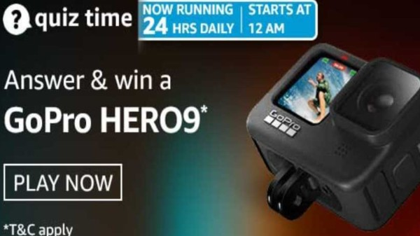 Amazon Quiz Contest Answers For April 27, 2021: Win GoPro Hero9
