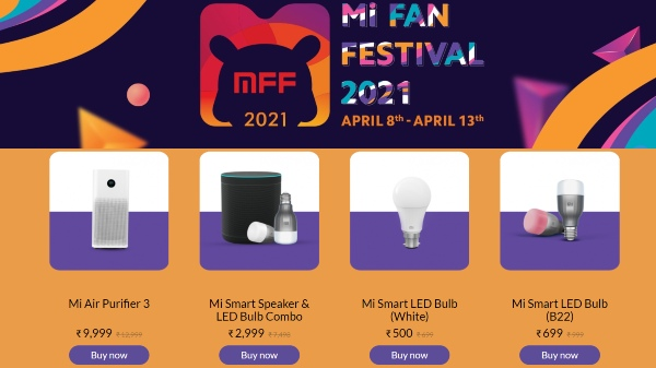 Mi Fan Festival Sale 2021: Discount Offers On Home Entertainment Devices