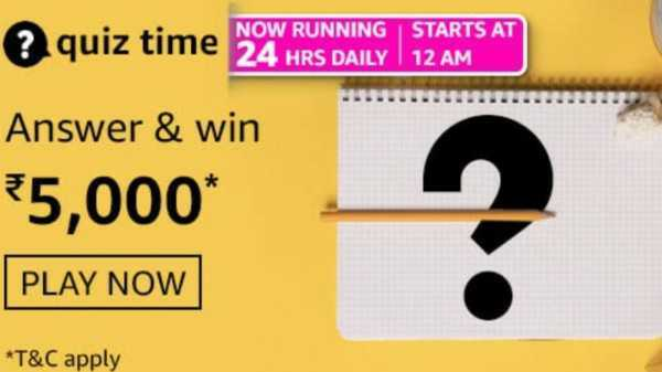 Amazon Quiz Answers For May 15, 2021: Win Rs. 5,000 Amazon Pay Balance