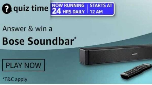 Want To Win Bose Soundbar? Check Out Amazon Quiz Contest Answers