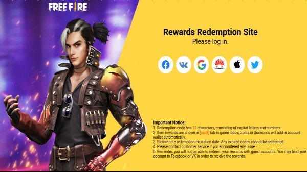Free Fire Redeem Codes For May 8