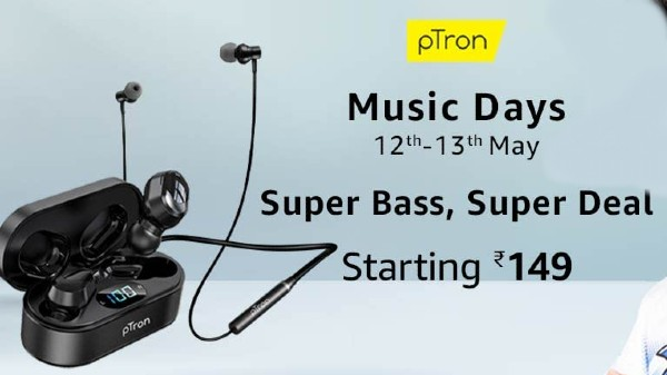 Amazon pTron Music Day Sale 2021: Discount Offer On Bluetooth Headphones