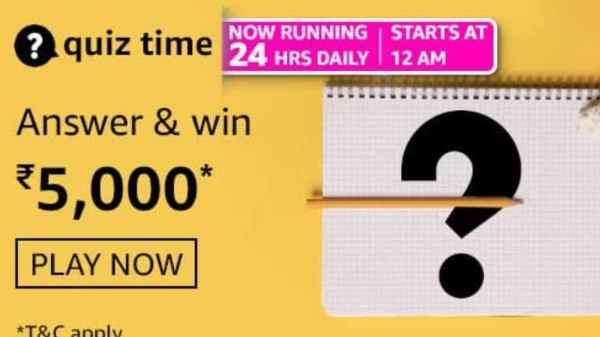 Amazon Quiz Contest Answers For May 7, 2021: Win Rs. 5,000 Amazon Pay Balance