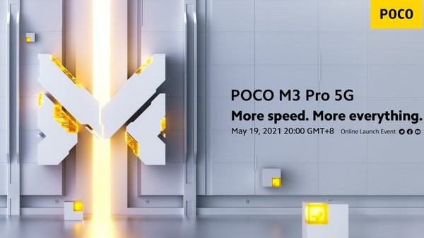 Poco M3 Pro 5G Launch Scheduled On May 19