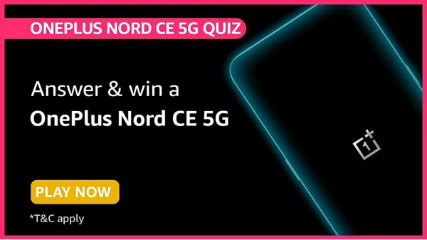 Here Are Amazon OnePlus Nord CE 5G Quiz Answers