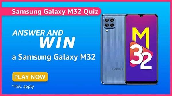 Amazon Samsung Daily Quiz: Win Free Samsung Galaxy M32