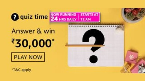 Amazon Quiz Answers For Today; Rs. 30,000 Amazon Pay For Winners