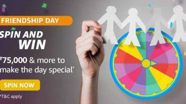 Amazon Friendship Day Spin and Win Quiz Answers: Win Up To Rs. 75,000