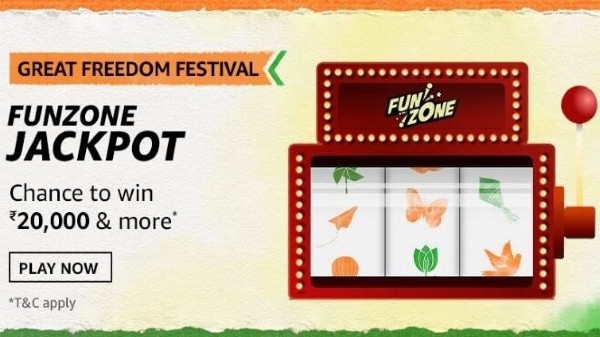 Amazon Great Freedom Festival Funzone Jackpot Quiz Answer