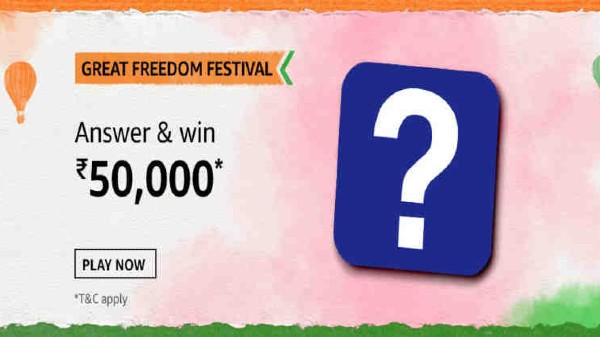 Amazon Great Freedom Festival Quiz Answers: Win Rs. 50,000
